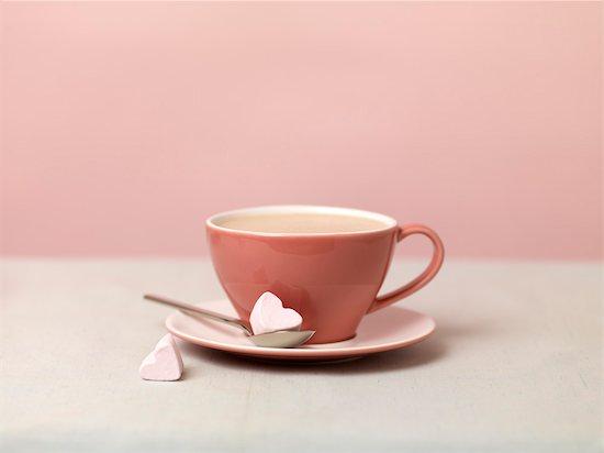 Hot Chocolate With Heart-shaped Marshmallows Stock Photo - Premium Royalty-Free, Artist: Natasha Nicholson, Image code: 600-03692042