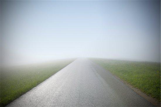 Empty Road with Fog, Mostviertel, Lower Austria, Austria Stock Photo - Premium Royalty-Free, Artist: Raimund Linke, Image code: 600-03738939