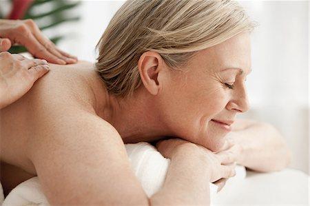 Mature full body massage
