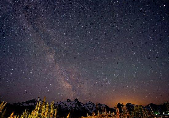 The Milky Way over The Cascades, Washington, USA Stock Photo - Premium Royalty-Free, Image code: 614-06311857