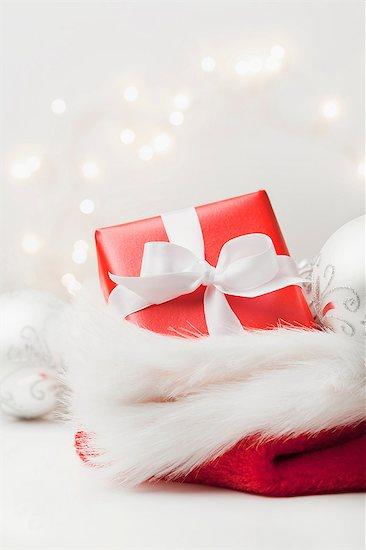 Christmas present in stocking Stock Photo - Premium Royalty-Free, Image code: 614-06718314