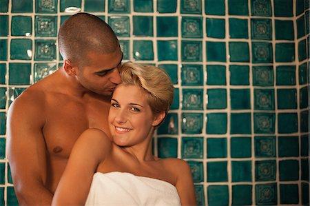 romantic hug bathroom couple kissing in bathroom stock photo premium royalty free