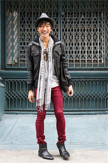 Fashionable young man Stock Photo - Premium Royalty-Free, Image code: 614-02739787
