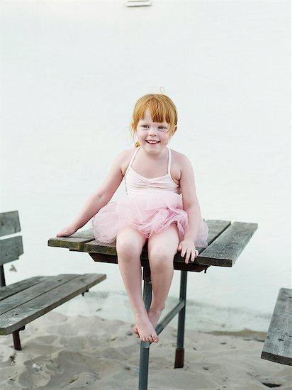 Girl in pink tutu dress Stock Photo - Premium Royalty-Free, Image code: 6102-08000883