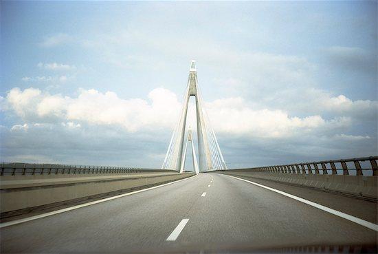 Empty bridge Stock Photo - Premium Royalty-Free, Image code: 6102-08384333