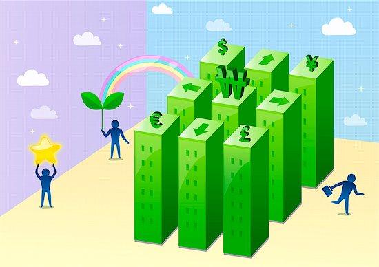 Illustration of currency symbol Stock Photo - Premium Royalty-Free, Image code: 6111-06728126