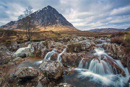 Small craggy waterfall below mountain, Loch Eriboll, Sutherland, Scotland Stock Photo - Premium Royalty-Free, Image code: 6113-08321265