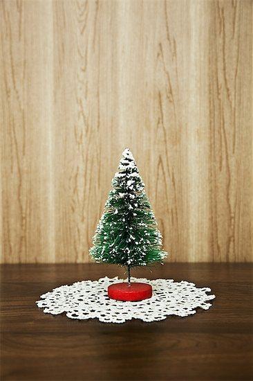 Miniature christmas tree Stock Photo - Premium Royalty-Free, Image code: 6114-06596707