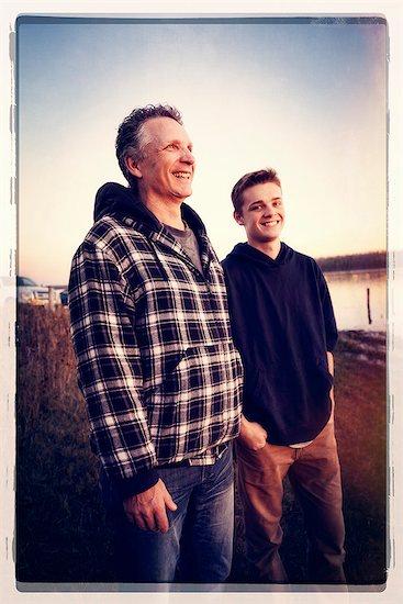 Two people, Saskatchewan, Canada Stock Photo - Premium Royalty-Free, Image code: 6118-07913364