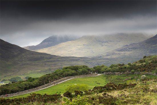 Ireland, Letterfrack, Connemara National Park, Co. Galway, Ireland. Foggy day Stock Photo - Premium Royalty-Free, Image code: 6129-09086709