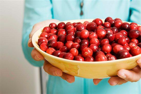 bowl of fresh cranberries Stock Photo - Premium Royalty-Free, Image code: 621-03568143