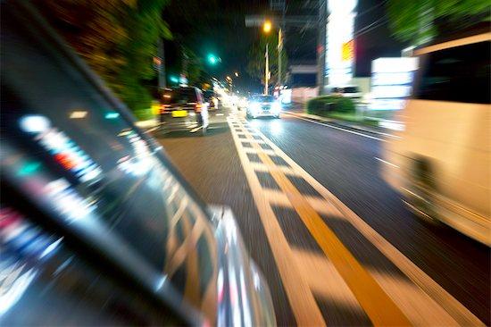 Car travelling at night Stock Photo - Premium Royalty-Free, Image code: 622-06900702
