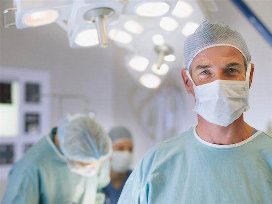 Man in scrubs in operating room Stock Photo - Premium Royalty-Free, Image code: 635-01347845
