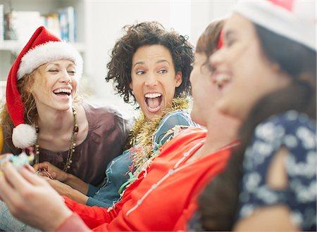excited black people christmas people enjoying christmas party stock photo premium royalty free - Black People Christmas