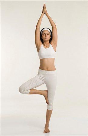 Yoga Tree Pose Silhouette Stock Photos Page 1 Masterfile