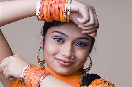 Faces Closeup Indian Women Nose Ring Stock Photos Page 1