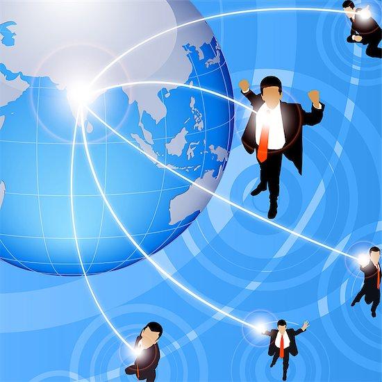 Illustrative representation of global business Stock Photo - Premium Royalty-Free, Image code: 630-03482149