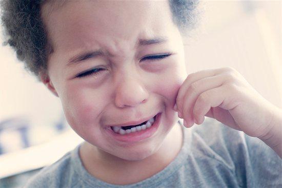 Little girl crying, portrait Stock Photo - Premium Royalty-Free, Image code: 632-05401300