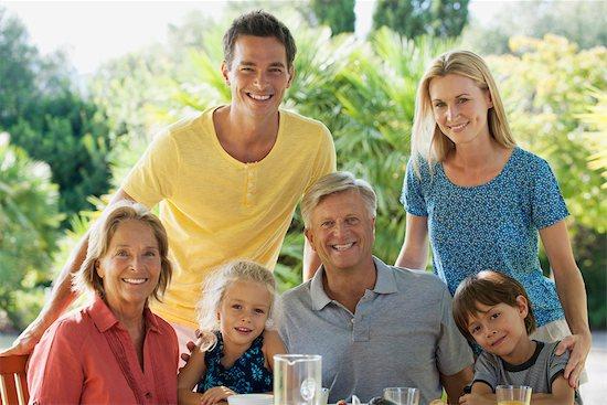 Multi-generation family outdoors, portrait Stock Photo - Premium Royalty-Free, Image code: 632-05845638