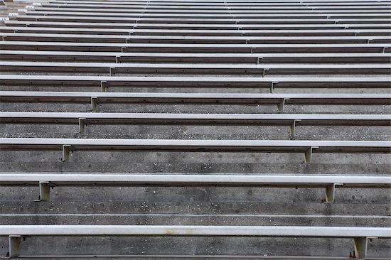 Empty stadium bleachers Stock Photo - Premium Royalty-Free, Image code: 632-05991436