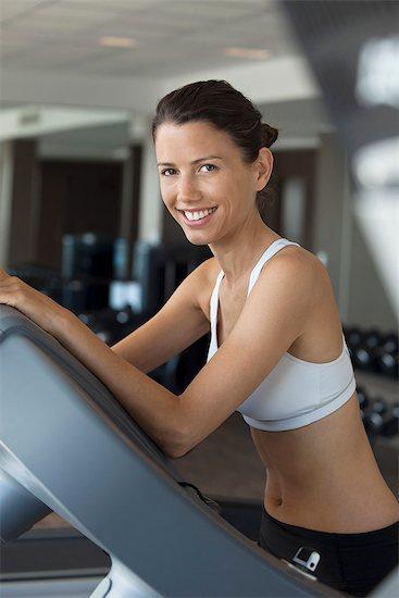 Woman exercising in health club, portrait Stock Photo - Premium Royalty-Free, Image code: 632-07809586