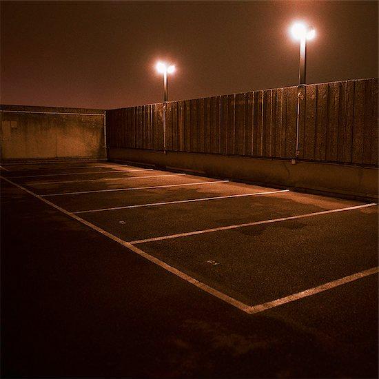 Parking lot at night Stock Photo - Premium Royalty-Free, Image code: 632-01149547