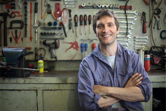 Mechanic, portrait Stock Photo - Premium Royalty-Free, Image code: 632-03500867