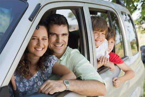 Family in car, portrait Stock Photo - Premium Royalty-Free, Image code: 632-03516973