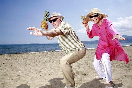 Old couple fun