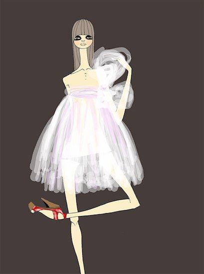 Woman dressed ballerina style Stock Photo - Premium Royalty-Free, Image code: 645-01538633