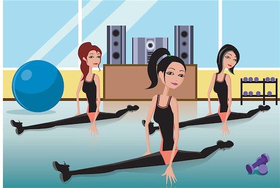 Women doing yoga Stock Photo - Premium Royalty-Free, Image code: 645-02153556