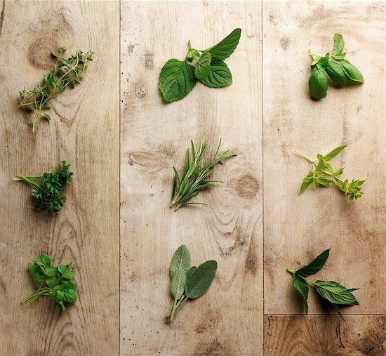 Fresh herbs Stock Photo - Premium Royalty-Free, Image code: 649-07064970