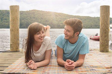 Shy teen couples