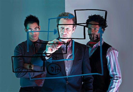 A conceptual business brainstorm Stock Photo - Premium Royalty-Free, Image code: 649-03077986