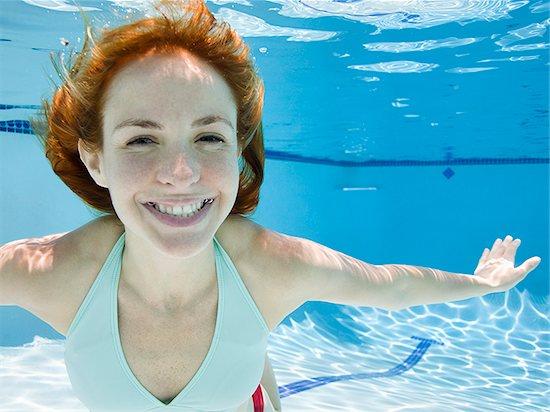 woman underwater Stock Photo - Premium Royalty-Free, Image code: 640-02951404