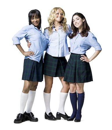 1fc9e33f29 school girl skirt - women wearing school girl outfits Stock Photo - Premium  Royalty-Free