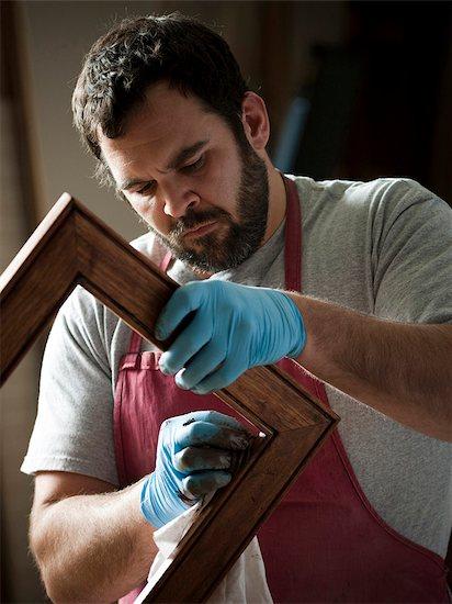 USA, Utah, Orem, carpenter at work Stock Photo - Premium Royalty-Free, Image code: 640-03256979