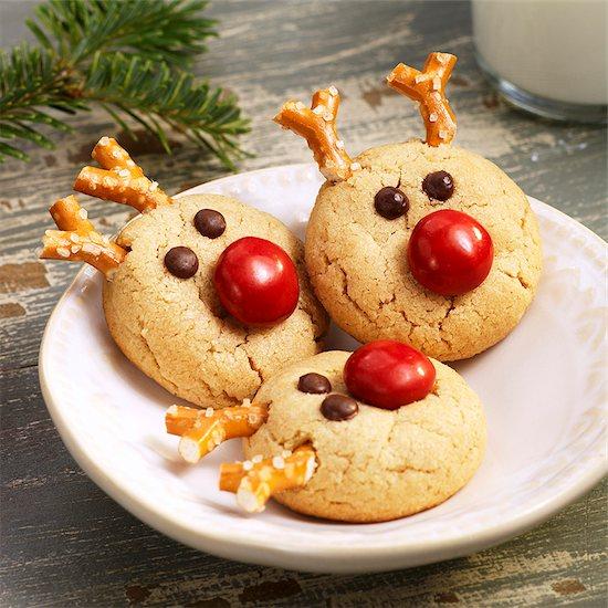 Peanut Butter Reindeer Cookies Stock Photo - Premium Royalty-Free, Image code: 659-06372932