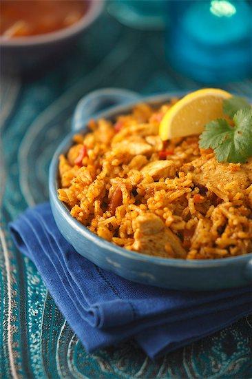 Chicken biryani (India) Stock Photo - Premium Royalty-Free, Image code: 659-08419194
