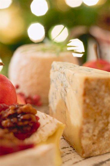 Cheese board (Christmas) Stock Photo - Premium Royalty-Free, Image code: 659-02213824