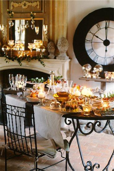 New Year's Eve buffet Stock Photo - Premium Royalty-Free, Image code: 652-05807694