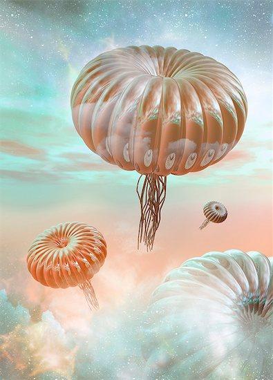 Alien life forms, artwork Stock Photo - Premium Royalty-Free, Image code: 679-05797557