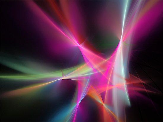 Light pattern, computer artwork. Stock Photo - Premium Royalty-Free, Image code: 679-07962318
