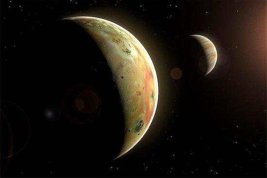 Artwork of Jovian Moon Io Stock Photo - Premium Royalty-Free, Image code: 679-08829200