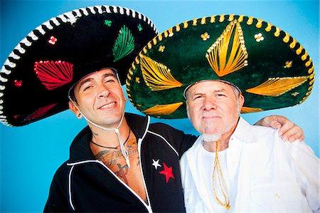 sombreros mexican hat - portrait of two men wearing sombreros Stock Photo -  Premium Royalty- 207fa1bf572