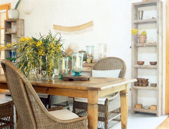 Mediterranean dining room Stock Photo - Premium Royalty-Free, Image code: 689-05610436
