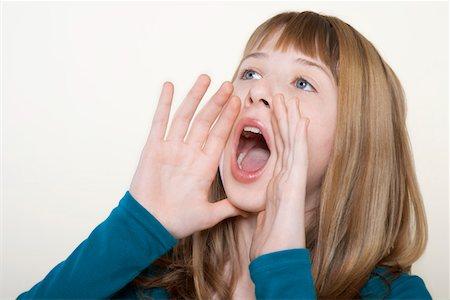 Open mouth girl teen Say Aaah!