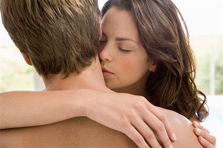 Girl girl kissing boy necked sexy