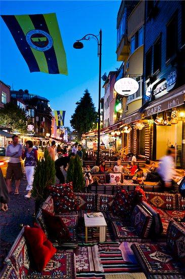 Restaurants in Sultanahmet District, Istanbul, Turkey Stock Photo - Premium Rights-Managed, Artist: R. Ian Lloyd, Image code: 700-05609479