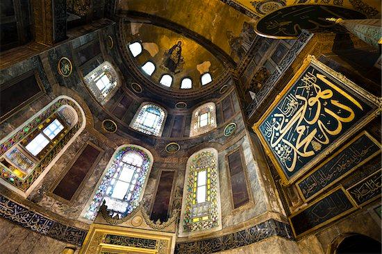 Ceiling, Hagia Sophia, Istanbul, Turkey Stock Photo - Premium Rights-Managed, Artist: R. Ian Lloyd, Image code: 700-05609471